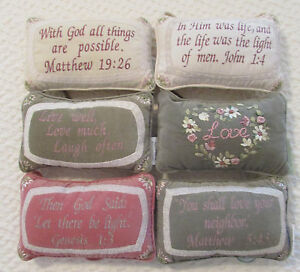 Shabby-Chic-Set-Of-6-New-Scripture-Decorative-Pillows