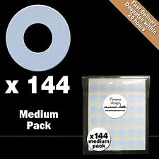 144 x Pale Blue hang tag ring/round hole punch reinforcement stickers/labels