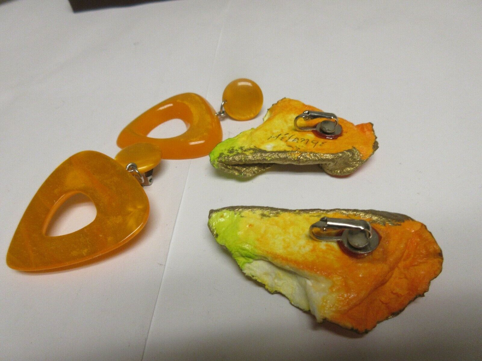 Costume Jewelry ,Vintage , Earrings (2) , Vibrant Color