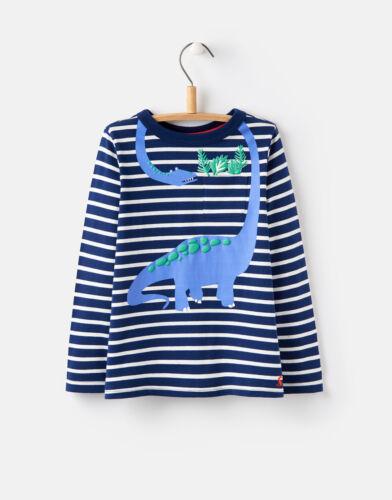 80-116 NEU /%/% /%/%  JOULES Tom Joule Shirt Dino Peeker blau gestreift Gr