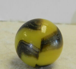 #13138m Vintage Peltier NLR Bumblebee Marble .66 Inches