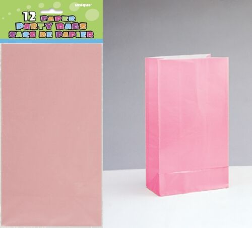Colour Range Treat Gift Sweet Candy Birthday Xmas 1C Loot 10//12 PAPER PARTY BAGS