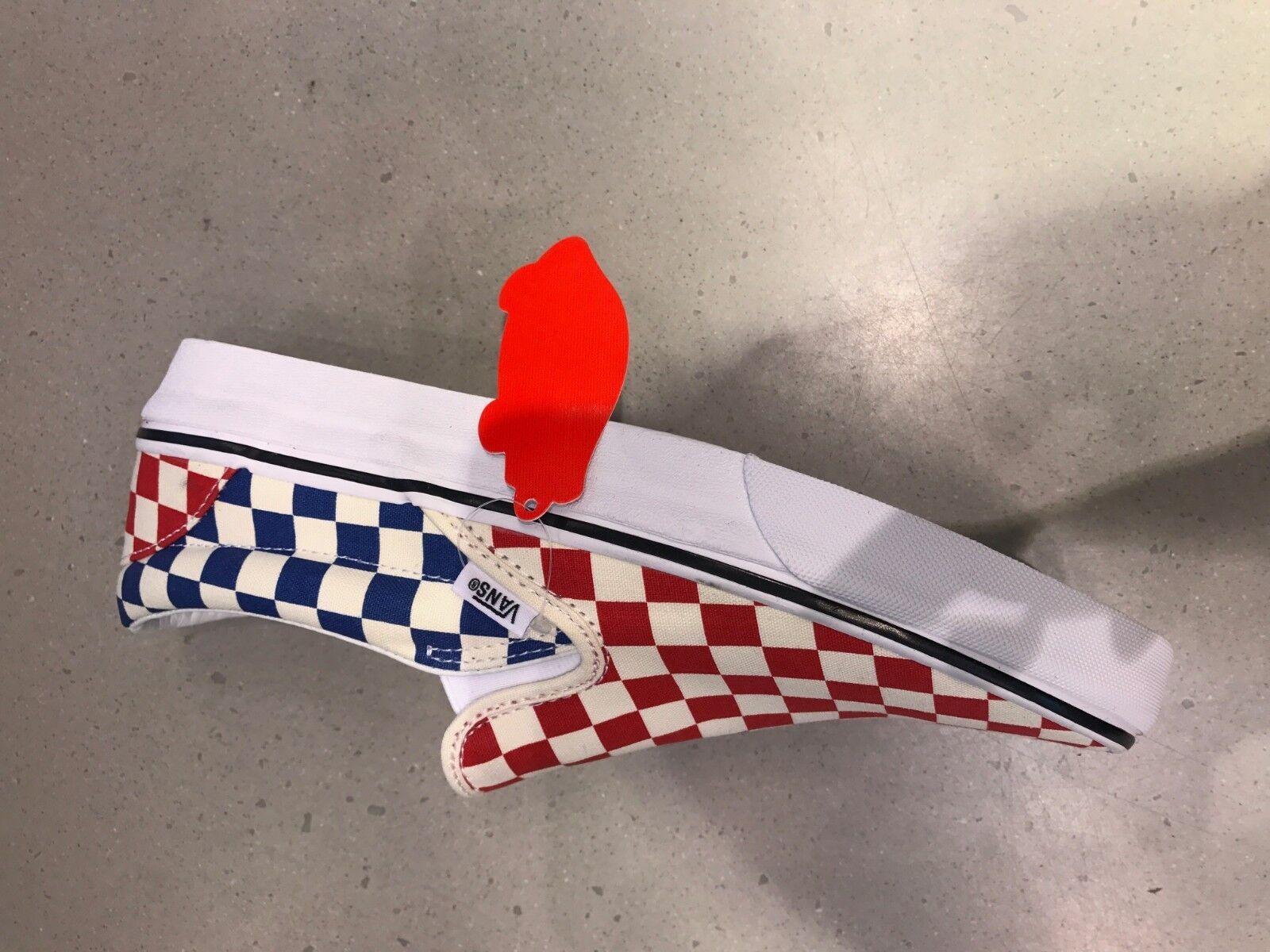 Vans Slip On Checktavola rosso blu VNOA38F7QCS Men & Youth Dimensiones Sautope classeiche da uomo