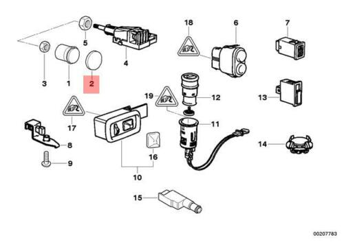 Car & Truck Interior Switches & Controls Genuine BMW Z3 Coupe ...