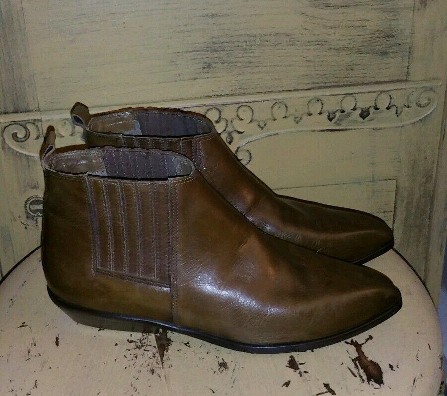 Nuevos Nine West Loden verde Cuero Tobillo botas botas botas De Montar corto 7 M Brasil SNIP Toe  tomamos a los clientes como nuestro dios