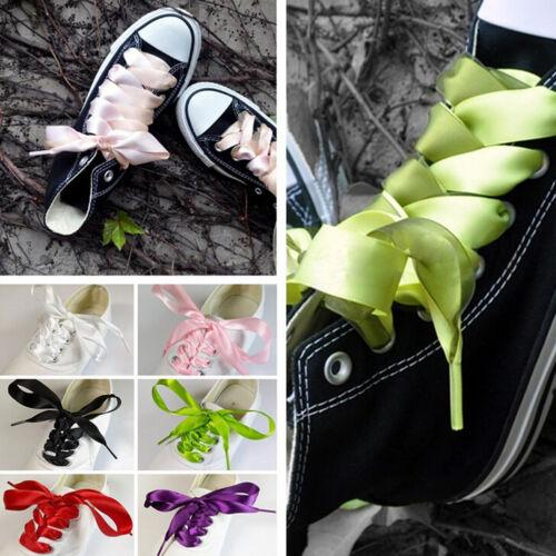 70//120cm 20mm Shoelaces Fashion Shoe Laces Flat Shoestrings-Made Of Silk Ribb/_sh