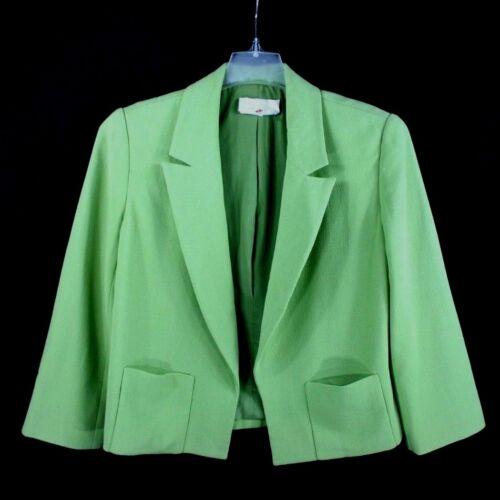 Citron Blazer Femme Longues Vert Badgley Mischka Veste Vintage Vtg À Manches wxqYn8U17