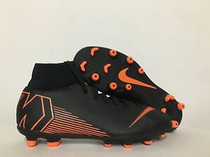 uk availability ec4e0 82d9e Image is loading Nike-Mercurial-Superfly-6-Club-MG-Black-Soccer-