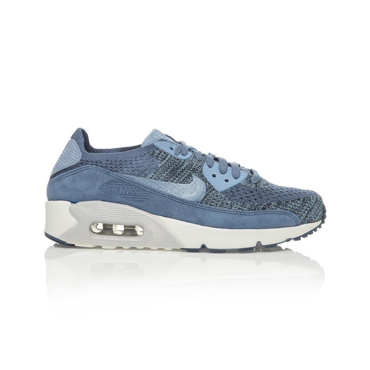 Nike NikeLab Air Max 90 Flyknit Men's shoe Ocean FogWork BluePure PlatinumS