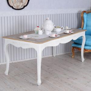 MESA de comedor Estilo Rústico cocina vintage madera blanco NUEVO | eBay