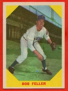 1960 Fleer #26 Bob Feller EX-EXMINT+ HOF Cleveland Indians FREE SHIPPING