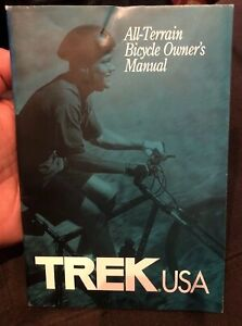 Details about Vintage 1997-2002 TREK Bicycle ALL-TERRAIN Mountain Bike  OWNER'S MANUAL Y-22 970