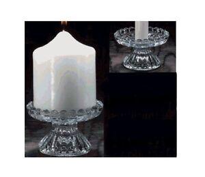 """Holder  ~~5/"""" in Diameter~~  NEW Biedermann Glass Pillar Candle Plate"""