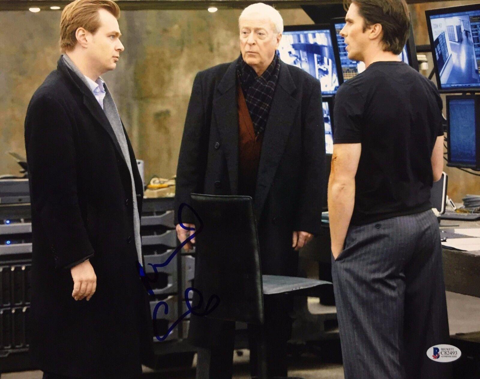 Michael Caine Signed 11x14 Photo Batman *Alfred *Butler Beckett BAS C82493