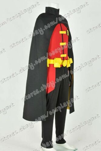 Details about  /Young Justice Cosplay Robin Costume Stretchable Fabric Version Jumpsuit Outfit