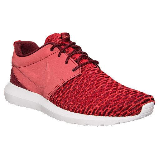 Authenic Nike Roshe ONE Flyknit PRM Gym rot Weiß Crimson 746825 600 Men Größe