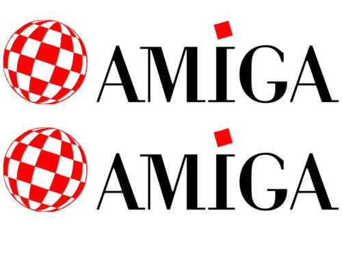 Retro Computing Commodore Amiga Ordinateur 2 xdecals Autocollant Vinyle Autocollant Voiture Ordinateur Portable