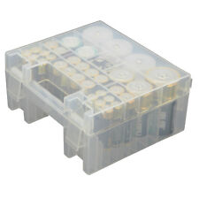 AA AAA C D 9V Battery Storage Box Case Holder Container Organizer Clear Plastic