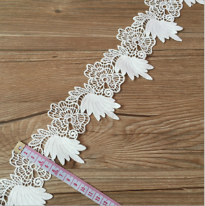 2-Yards-embroidery-Flowers-lace-decoration-sewing-clothing-Wedding-Craft
