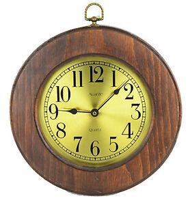 Vintage Avante Wood Wall Clock Quartz Japan Movement 10