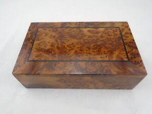 Klein- & Hängeaufbewahrung Boxen Imswan Thuja Holz Schatulle In Neue Berber Effekt Marokko 2,cm