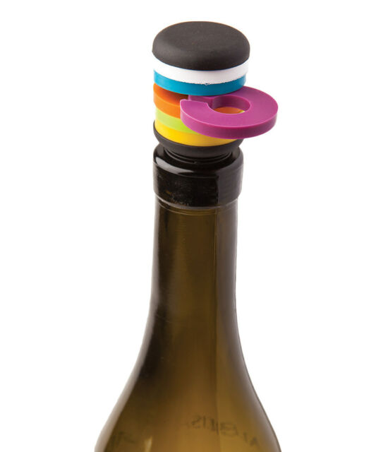 Dci Party Stopper Bottle Stop Wine Charm Set Glass Markers Cork Bar Tool Gift For Sale Online