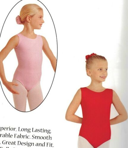 NWT EUROTARD WHITE TANK Dance Leotard Girls Sizes style #1089  Fully Frontlined
