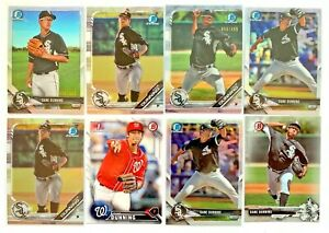 (8) DANE DUNNING Bowman Chrome 1st Refractor Rookie Variation Cards SP /499 LOT