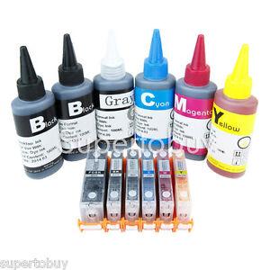 Empty Refillable Ink Cartridge for Canon PGI-250 CLI-251 Pixma MG6320 MG7120 6C