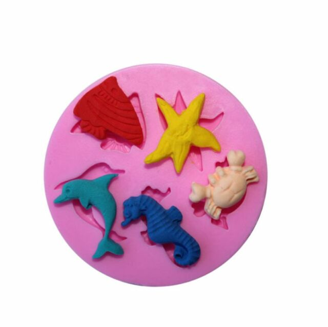 Baking Tools Fondant Sugar Cake Bakeware Silicone Mold Three Ocean World Mould