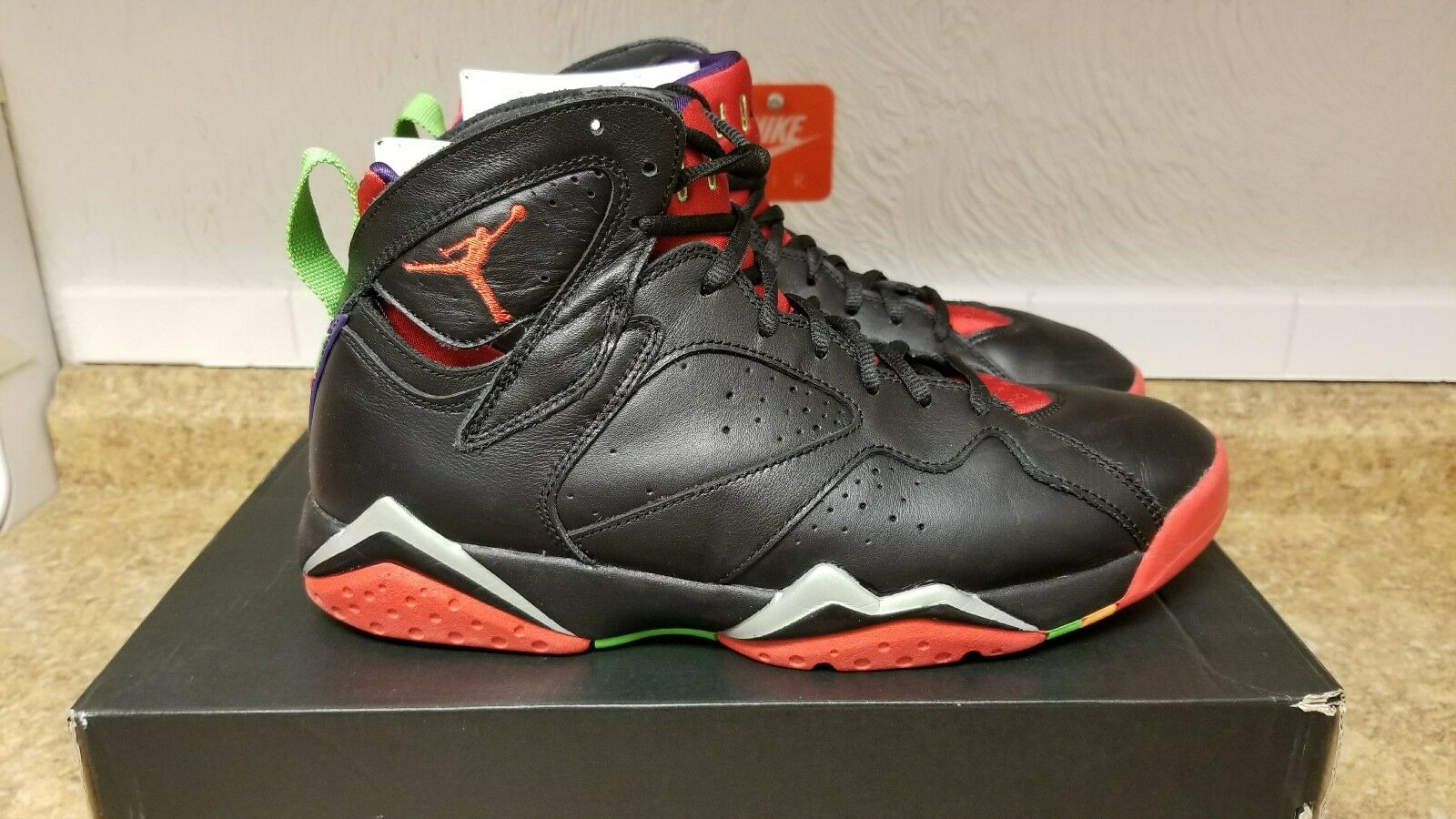 Nike Air Jordan VII 7 Retro Black/Red-Green Marvin The Martian 304775-029 Price reduction Special limited time