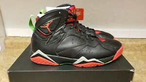 the best attitude 7849d 8bfab Image is loading Nike-Air-Jordan-VII-7-Retro-Black-Red-