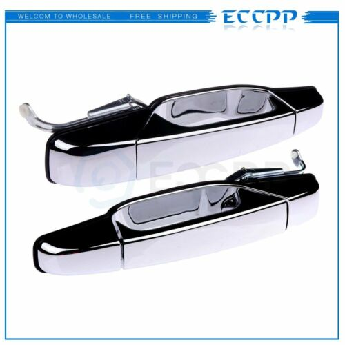 Chrome Outer Door Handles Rear Driver Passenger 2pcs set for 07-13 Chevrolet GMC