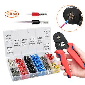 1200Pcs-Crimp-Tool-W-Bootlace-Ferrule-Crimper-Plier-Wire-Terminal-Connector-Set