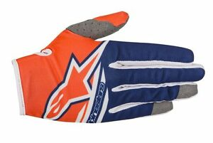 Guanti-Adulto-Alpinestars-Radar-Flight-Gloves-Arancione-Fluo-Blu-Cross-Enduro