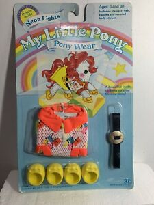 My Little Pony Accessory- Neon Lights pony wear Vintage 1980's new in package