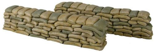 1//30 W Britain Tactical Scenes WWII World War II Air Base Sand Bag Walls