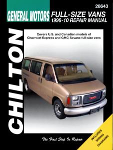 MANUALE Haynes CHEVY Chevrolet Express GMC Savana furgoni full-size 1996-2010 Riparazione
