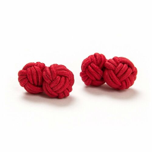 londres caballero 1 pares seidenknoten//gemelos//cufflinks rojo