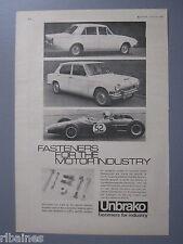 R&L Ex-Mag Advert: Unbrako Fasteners, Truimph, Ford/BMW 1800 Car