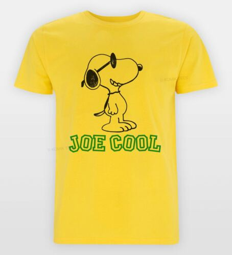 SNOOPY New JOE COOL VINTAGE Style Retro 80/'s Tshirt Mens Size S XXL Tee