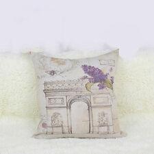 Retro Paris Cotton Linen Square Throw Pillows Case Cushion Cover Hot Home Decor