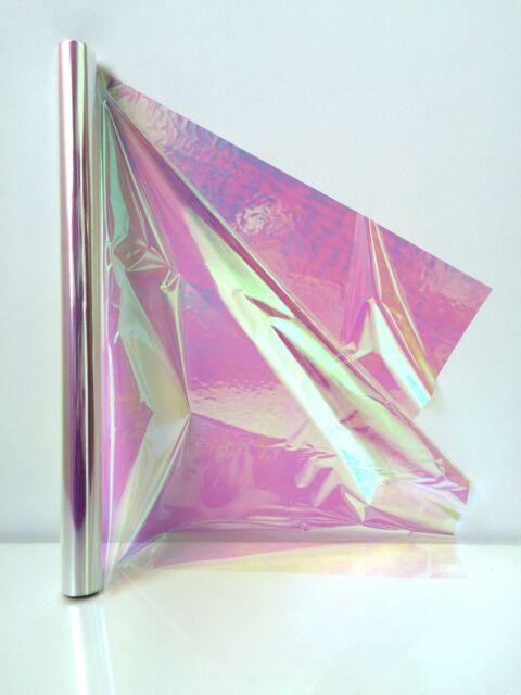Cellophane Iridescent 10m Roll 50cm Wide Rainbow Effect