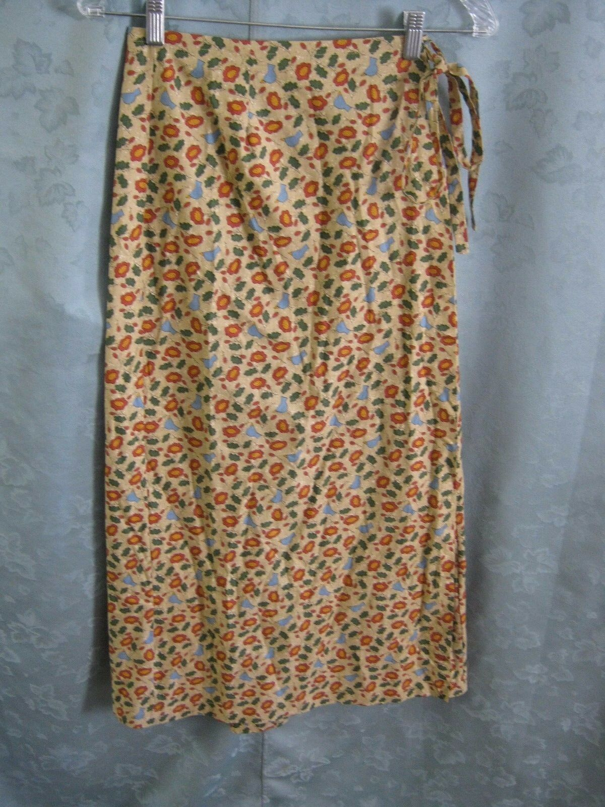 Dorcas Wrap Skirt Size Small blueebirds and Flowes
