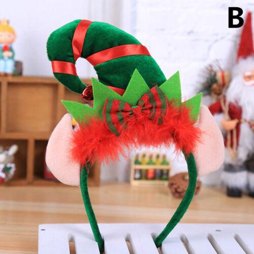 Christmas Headband Feather Elf Hair Band Clasp Headwear Head Hoop Xmas Gifts U/_O