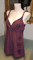 Rsb Beautiful Tunic Rock Star Baby Clothes Violet M. Stones Strasen Size M /b15