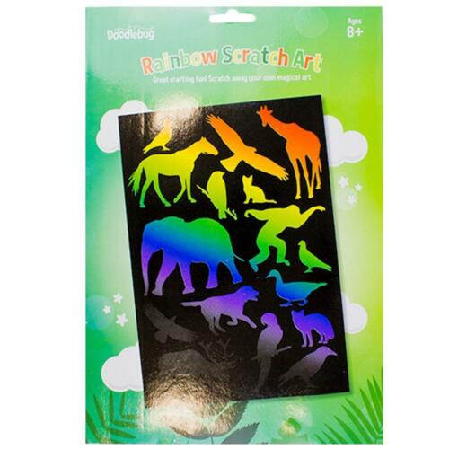 Set of 4 Holographic /& Rainbow Scratch Engraving Art Sets Picture Board Pen