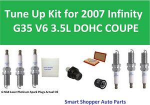 Tune-Up-For-2007-Infiniti-G35-Coupe-Spark-Plug-Oil-Filter-PCV-Valve-Air-Filte