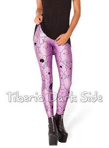 Adventure-Time-Lumpy-Princess-Cartoon-Lilac-Digital-Print-Women-Leggings