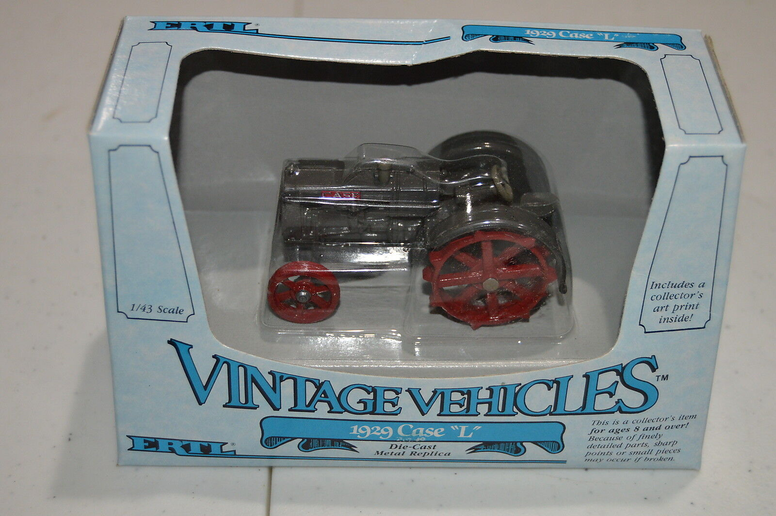 Vintage Vehicles Ertl 1 43 Scale 1929 Case  L  Tractor NEW
